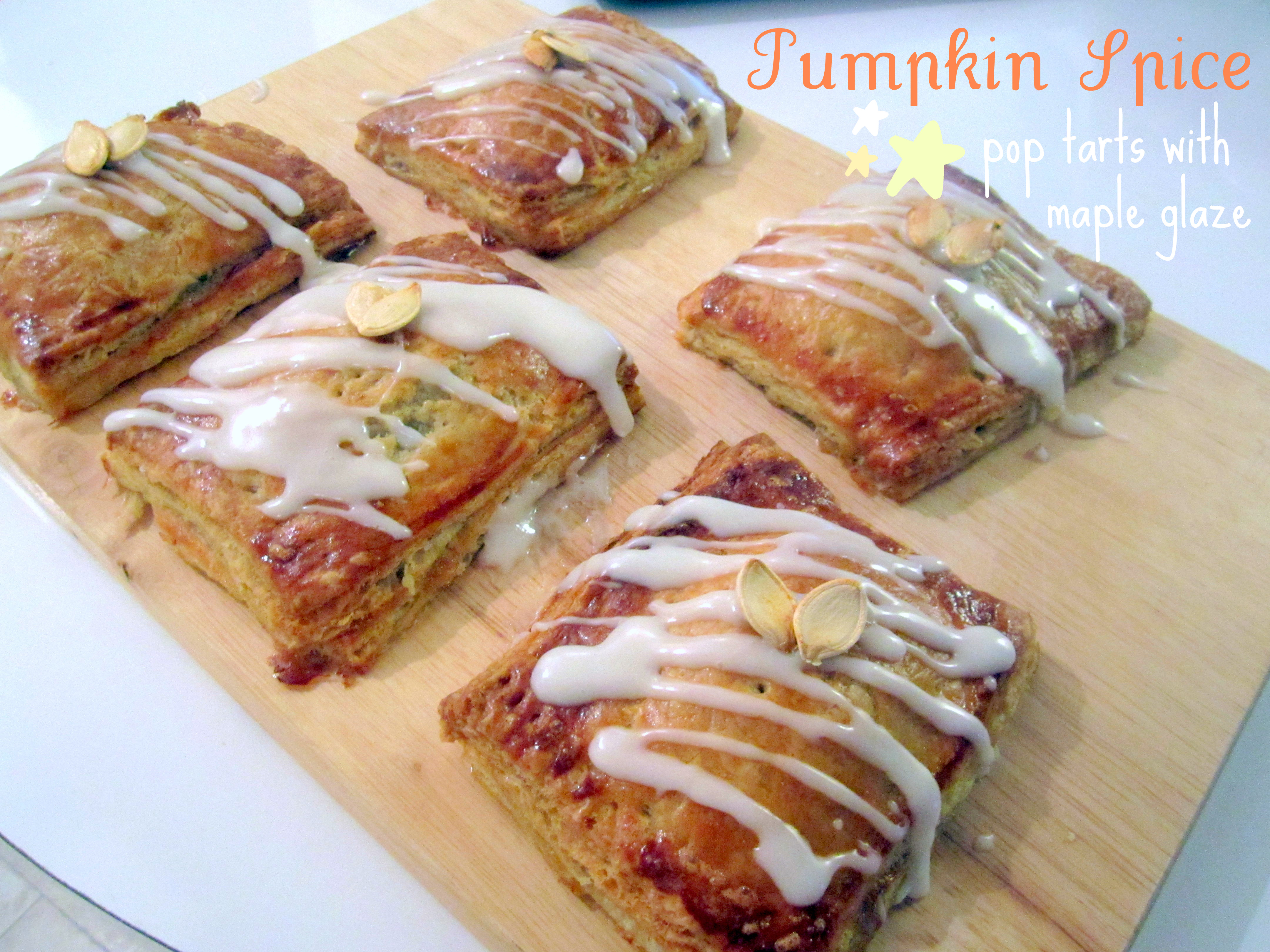 Pumpkin Spice Pop Tarts with Maple Glaze
