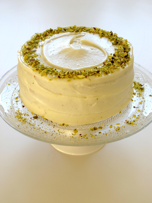 Pistachio and Lemon Layer Cake (Gluten Free)