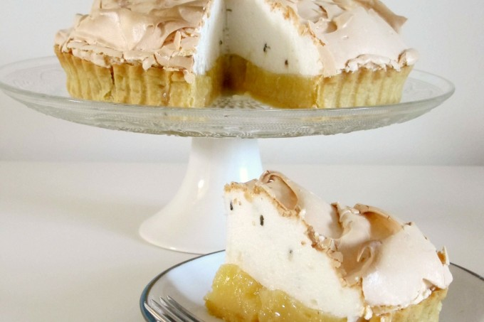 Lavender and Lemon Meringue Pie