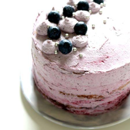 Blueberry Lavender Lemon Naked Layer Cake